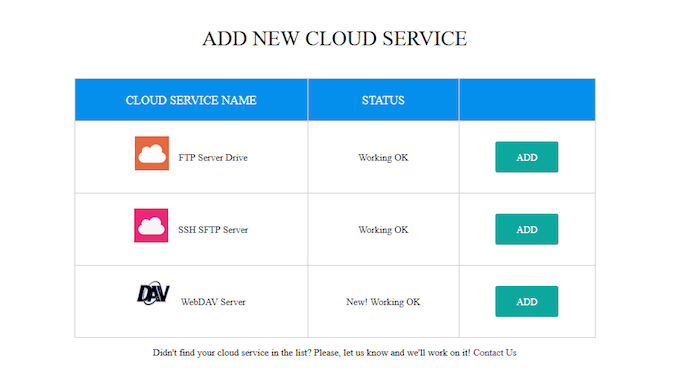Add new cloud service to transfer cloud.io